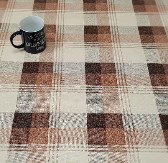 COFFEE COFFEE VINYL WIPE CLEAN PVC TABLECLOTH