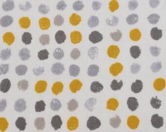 Pvc Tablecloth / Oilcloth-1604 Dot Dot Ochre- Matt PVC Tablecloth - Wipeclean Tablecloth