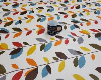 Oilcloth Tablecloth Pvc Tablecloth - Design 1586 Orla - Matt Finish - Simply wipeclean the tablecloth.