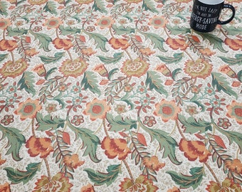 Oilcloth Tablecloth Pvc Tablecloth 1614 Maurice Russet  - Oilcloth  Matt Finish. Simply wipeclean the tablecloth