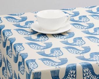 Oilcloth Tablecloth Pvc Tablecloth 1443 SCANDI BIRDS Capri - Just wipeclean the tablecloth