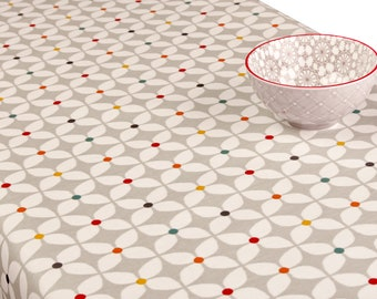 Pvc Tablecloth or Oilcloth Tablecloth- 1554 Zap Paintbox - Matt PVC Tablecloth - Simply Wipeclean the tablecloth
