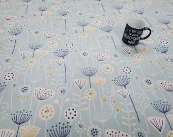Pvc Tablecloth or Oilcloth-1583 BERGEN SEAFOAM - Matt PVC Tablecloth - Wipeclean Tablecloth