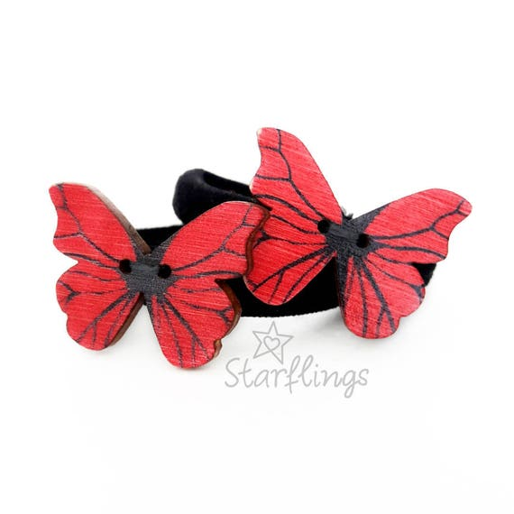 BUTTERFLY HAIR TIES Girl Gift Birthday Hair Accessories Bows Clip Dress