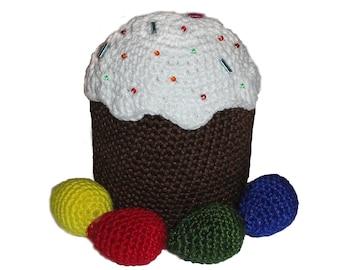 Easter eggs  for crochet, PDF - PATTERN ONLY 3 different egg sizes