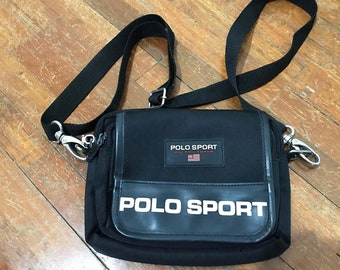 9aa141e1a4f Vintage Polo Sport Bag Free Shipping 90s Polo Sport Cross Body Bags Navy Bag  Camera Bag Small Bag Purse
