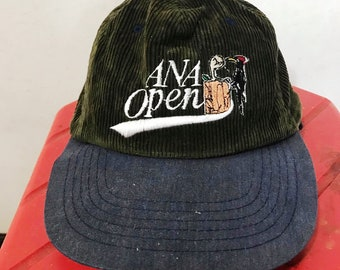 541eebccccb85 Vintage 90s Corduroy Hat Free Shipping 90s Dad Ana Open Hat Navy Hat Green  Hat Retro Hat Cute Hat