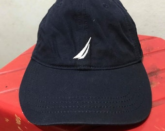 6b7834c6 Vintage Nautica Hat Free Shipping 90s Nautica Hat Embroidery Hat Navy Hat  Logo Hat