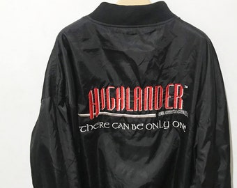 aece5a397 Vintage 90s Highlander Jacket Highlander Leather Jacket Authentic Official  Product of Highlander film TV Show Vintage Highlander