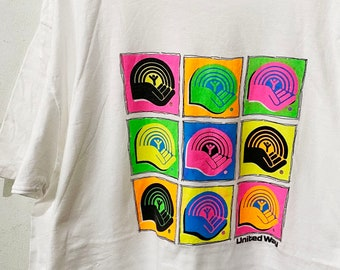 Vintage 90s United Way T-Shirt Size XXL Free Shipping