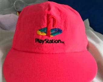 959aa9c4a9a Vintage 90s PlayStation Snapback Hat Free Shipping Retro PlayStation Neon  Hat Game Hat Dad Hat hip Hop Hat Rare