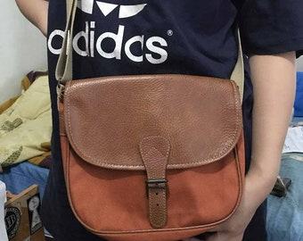 9dfec4b94b Vintage Shoulder Bag Free Shipping Canvas Shoulder Bag Leather Bag 90s Women  Bag Men Bag Retro