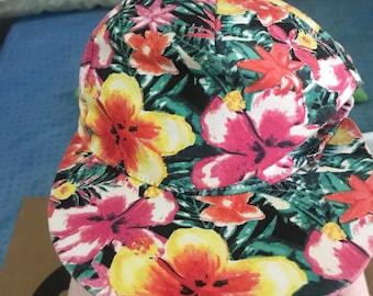 29281490659 Vintage Tropical Hat Free Shipping 90s Dad Hat flower Hat Hip Hop Hat Men Hat  Women Hat