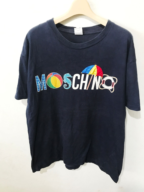 Vintage Moschino Jeans Shirt Size L Free Shipping