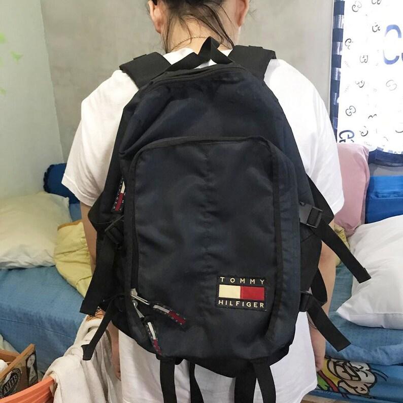 3d7c22027263 Vintage Tommy Hilfiger Backpack Free Shipping Tommy Jeans Bag