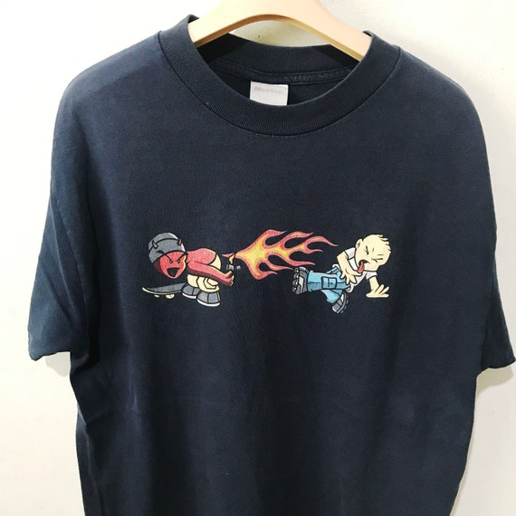Vintage 90s World Industries Shirt Size M Free Shi