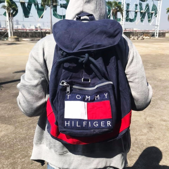 Vintage 90s Tommy Hilfiger Backpack Free Shipping