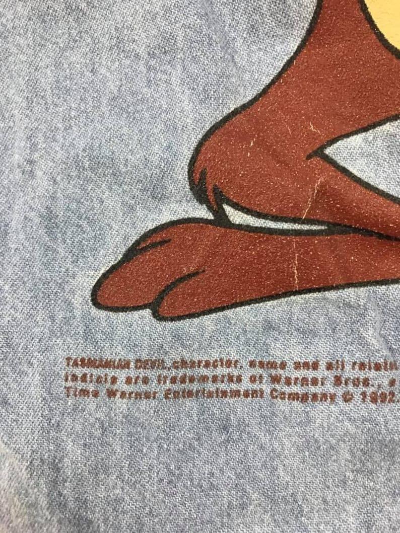 Vintage Tasmanian Devil Denim Shirts  Size L Free Shipping looney tunes Cartoon