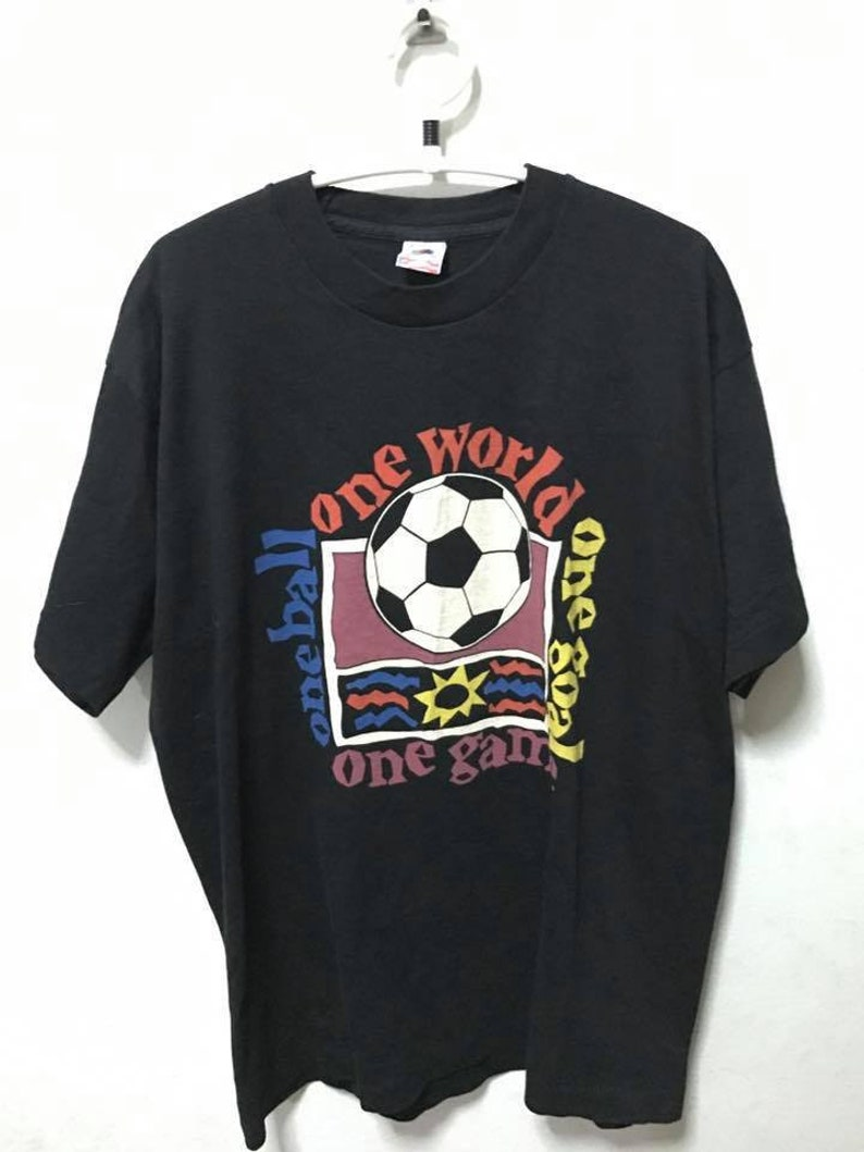 Vintage 90s Foot Ball T Shirt Size XL Free Shipping