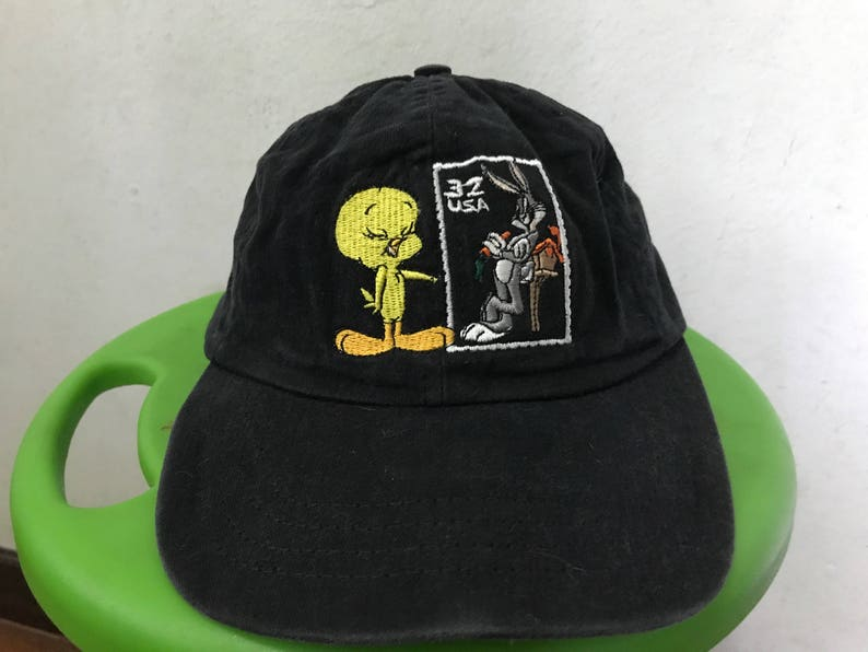 a0dc7546 Vintage Looney Tunes Snapback Hat Free shipping 90s Tweety | Etsy