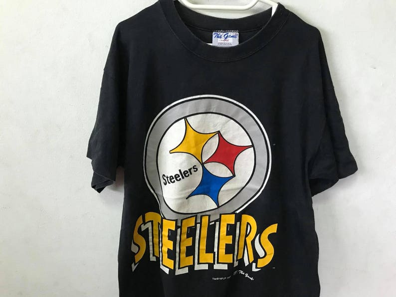 Vintage 90s Steelers T-Shirt Size L Free Shipping 90s  b2007db1d