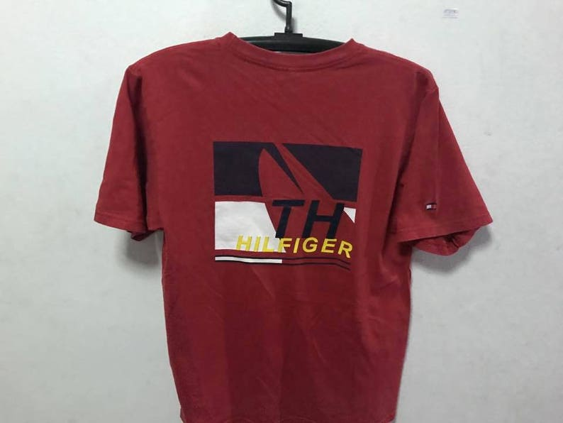 5aa91c6a54d03 Vintage 90s Tommy Hilfiger T-Shirt SIze S Free Shipping 90s