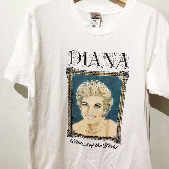 Vintage Diana Princess of Wales Shirt Size M Free