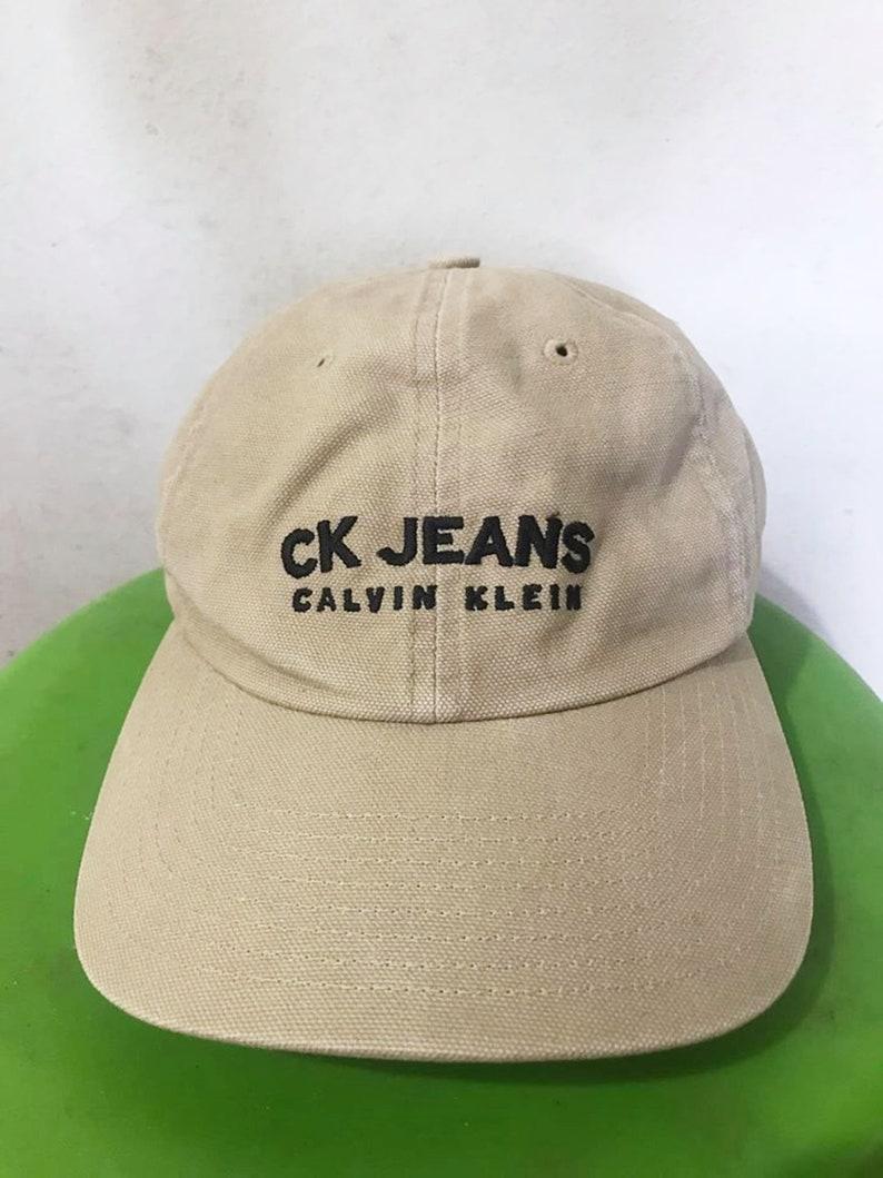 Vintage 90s Calvin Klein Hat Free Shipping DAD HAT Summer Hat  44d1fff702c