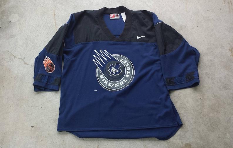 quality design ca90c 350c3 Vintage 1990's Toronto Maple Leafs Nike / NHL Street Jersey / Shirt (L)
