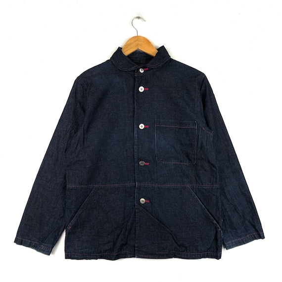 Rare !! NAFNAF Parkas Jeans Full Button Side Pocke