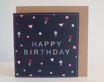 Happy Birthday Pastel Spring Card