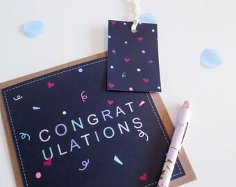Congratulations Pastel Spring Card