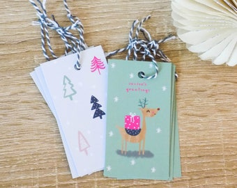 Christmas Trees Gift Tags (Pack of 10)