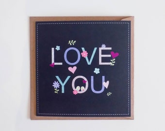 Love You Pastel Spring Card