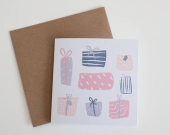 Presents Illustrated Card