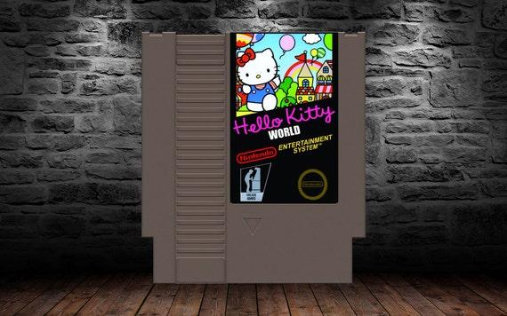 Bonjour Kitty monde - anglais traduit - haut l'envol ballon Action Comes Home - NES