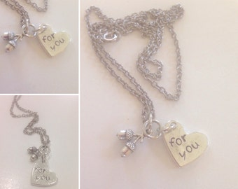 Nuts for You Hand Stamped Necklace