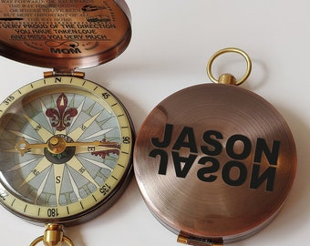 Grandson custom compass mens birthday gift personalized to son gift stepson gift godson gift grandson birthday souvenir granddaughter gift