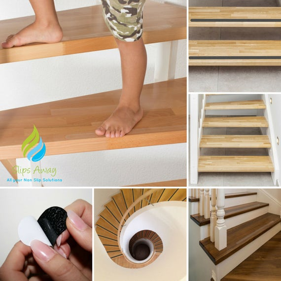 Non Slip Anti Skid Clear Black Textured Adhesive Stair Hallway Etsy