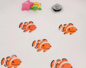 5 Nemo Fish Non Slip Skid Child Baby Kids Bath Shower Safety Mat