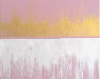 Acrylic Painting (Original) - Rose Gold