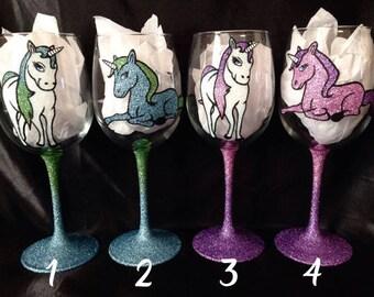 Unicorn Glitter Glasses