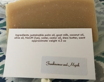 Various scents available of Goat Milk Soap