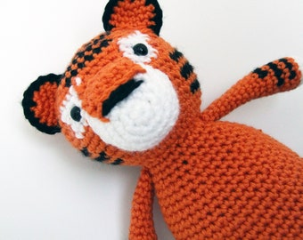 Tybalt the Tiger | Crocheted Tiger, Amigurumi Doll, Tiger Doll, Ready to Ship