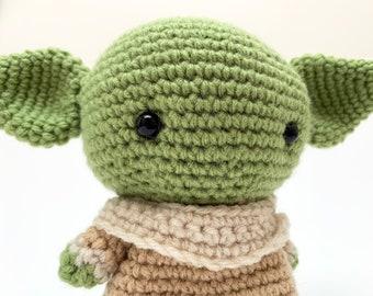 Baby Yoda Inspired Crochet Plush | Grogu, Star Wars, Crochet Doll, The Child Plushie | Made to Order