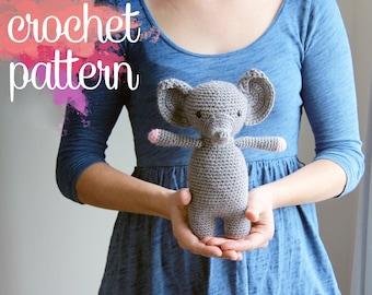 Amigurumi Elephant Crochet Pattern - Elinor the Elephant
