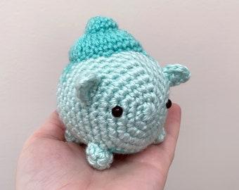 Chibi Bulbasaur Inspired Crochet Plush | Bulbasaur, Pokemon, Crochet Doll, Pokemon Plushie | Ready to Ship