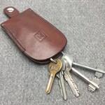 Handmade leather bell-shaped key holder