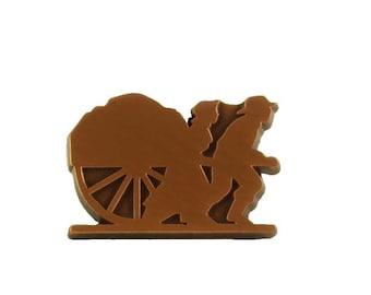 Mormon Handcart Trek Pin (Copper, Gold, or Silver)
