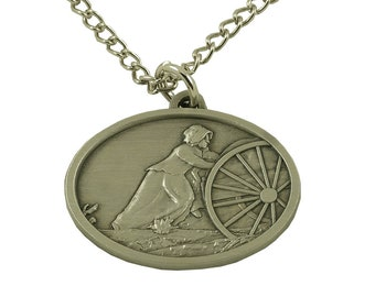 e0546c2bdf7 Handcart Mormon Pioneer Women Trek Faith in Every Footstep Necklace  (available in two colors)